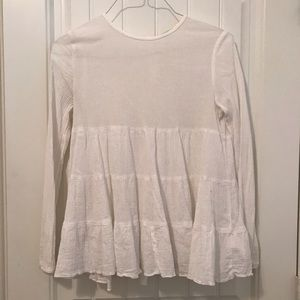 URBAN OUTFITTERS sheer long sleeve blouse